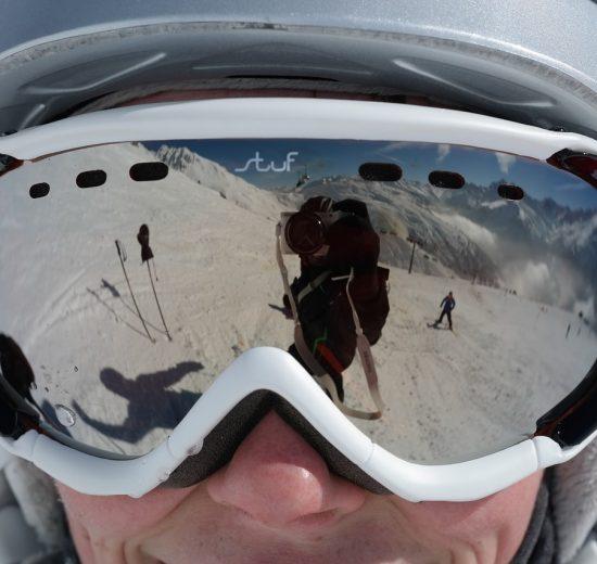 Ski Goggles Silver